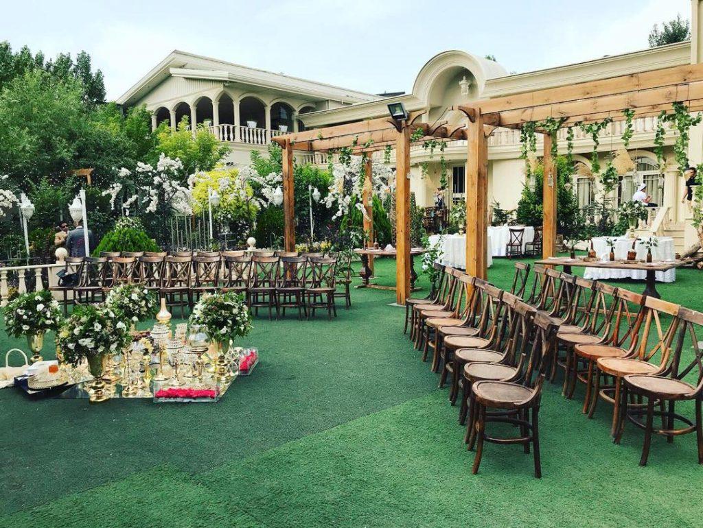 باغ برای مراسم عروسی